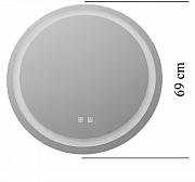 Oglinda rotunda cu LED , touch si dezaburire , 69cm_2