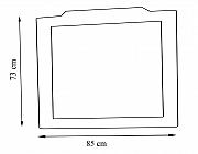 Oglinda seria 601 - 85cm alb rustic_1