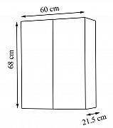 DULAP SERIA 172 - 60CM , ALB RUSTIC_2