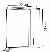 Oglinda seria 172 - 55cm alb rustic_2