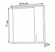 Kit oglinda seria 020 - 65cm RAL 7044_2